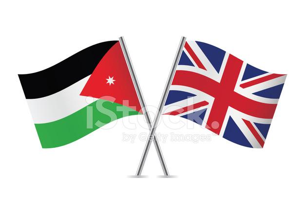 Jordan and british stock vector - Uk flag images free ...