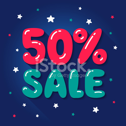 Premium Stock Photo Of Sale 50 Percent Bubble Letters With Glare