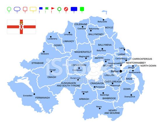 Irlanda Del Nord Cartina Geografica.Mappa Dell Irlanda Del Nord Stock Immagine Vettoriale Freeimages Com