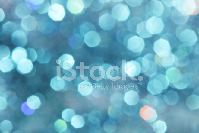 Blue Turquoise Glitter Christmas Abstract Background Stock