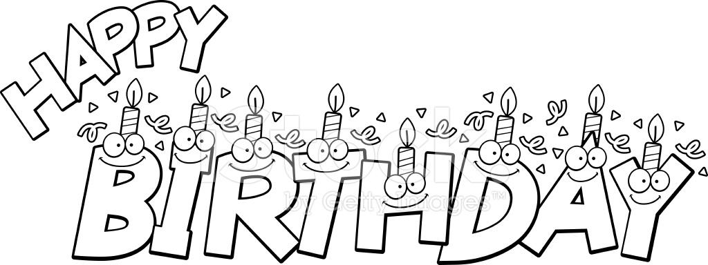 Texte joyeux anniversaire dessin anim stock vector - Dessin pour anniversaire ...