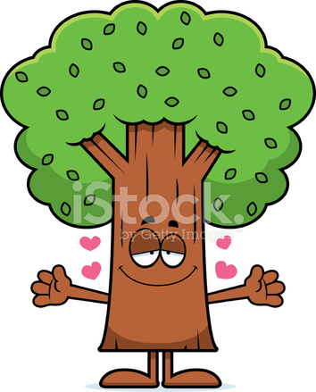 Cartoon Tree Hug Stock Vector Freeimages Com Hugging a pillow that heart sign on it, celebrating valentine`s day. cartoon tree hug stock vector