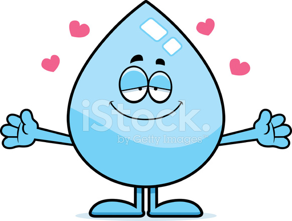 Abrazo De Gota De Agua Dibujos Animados Stock Vector Freeimagescom