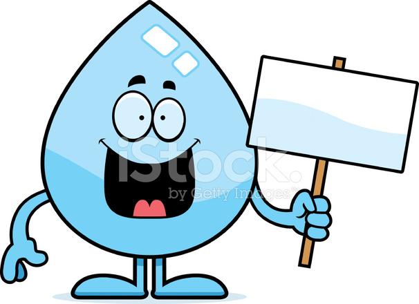 Cartoon Water Drop Sign Stock Vector