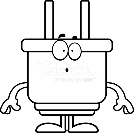 Surprised Cartoon Power Plug Stock Vector Freeimages Com