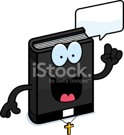 Cartone animato bibbia parlando stock vector freeimages