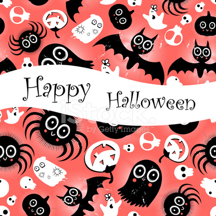 funny halloween background monsters stock vector freeimages com