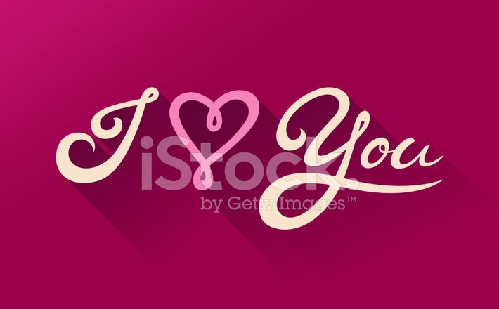I Love You Calligraphy St Valentine 39 S Day Card Stock: i love you calligraphy