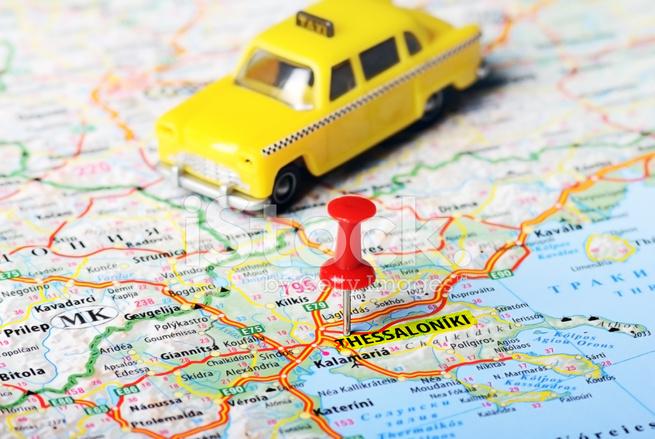 Thessaloniki Karte.Thessaloniki Griechenland Karte Taxi Stockfotos Freeimages Com