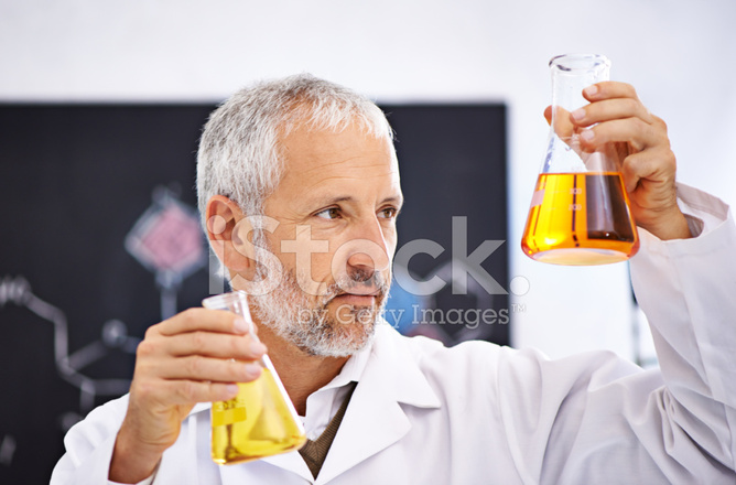 Observing Chemical Reactions IN The Lab Stock Photos