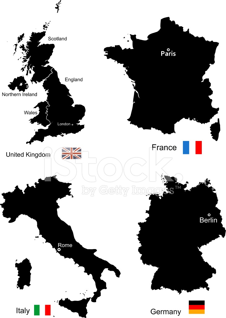 Maps of united kingdom france italy and germany stock vector maps of united kingdom france italy and germany gumiabroncs Gallery
