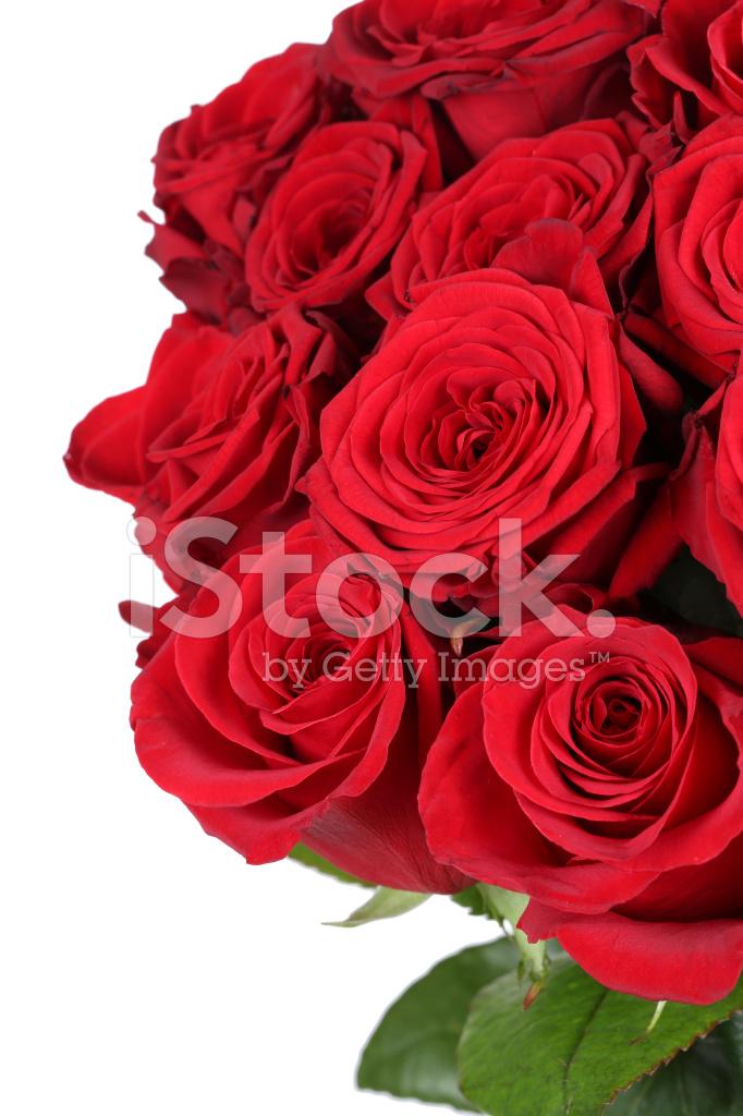 Bouquet De Roses Sur Anniversaire Saint Valentin Ou De La