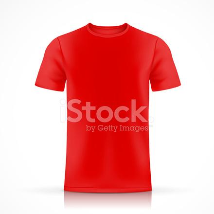 Red T Shirt Template Stock Vector FreeImagescom - Red t shirt template