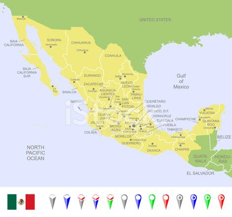 Mexiko Karte Umriss.Karte Von Mexiko Stock Vector Freeimages Com