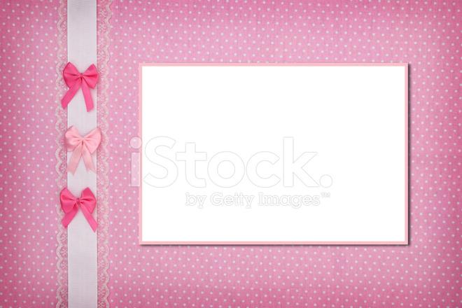 Cornice Su Sfondo Rosa A Pois Fotografie Stock Freeimagescom