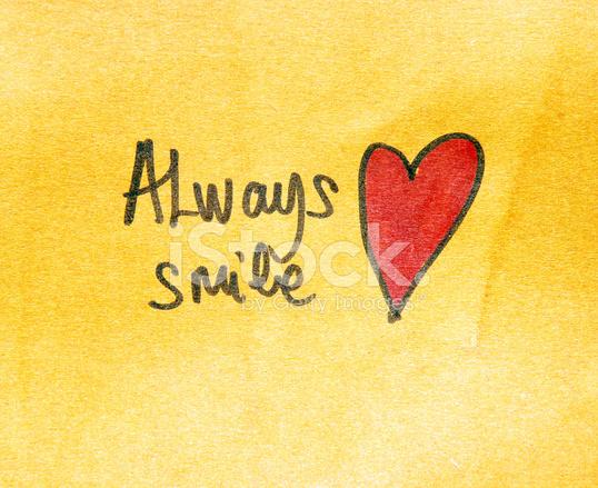 Inspirational Message Always Smile Stock Photos