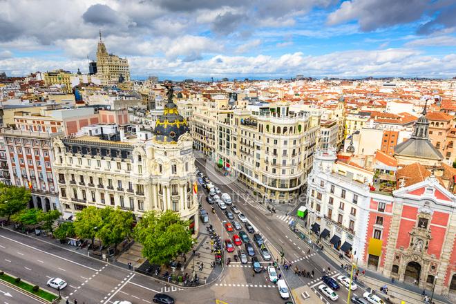 Paisaje Urbano DE Madrid, España Fotografías de stock - FreeImages.com