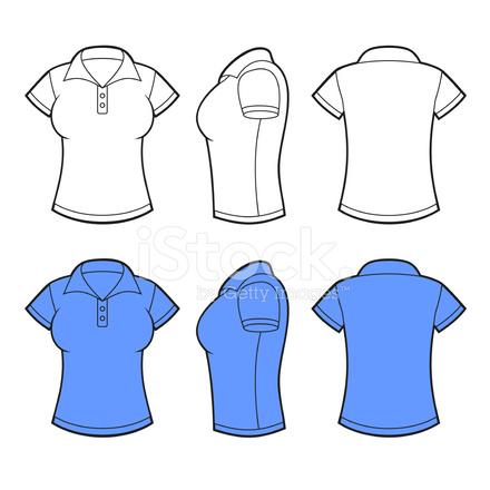 Las mujeres camisa de Polo la plantilla. Frente e1b69a6a8f7b4
