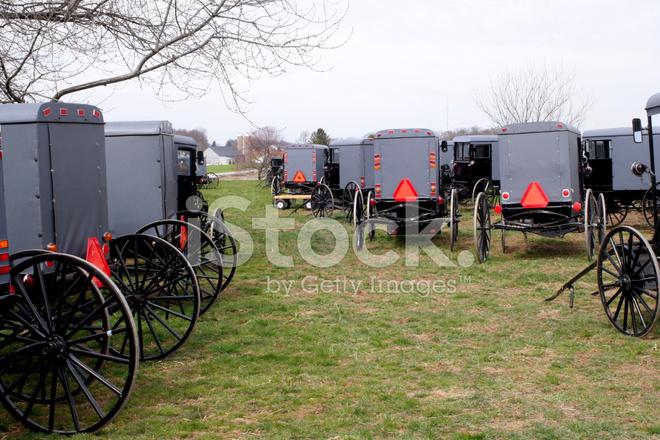 Amish Buggy Parking Stock Photos - FreeImages.com