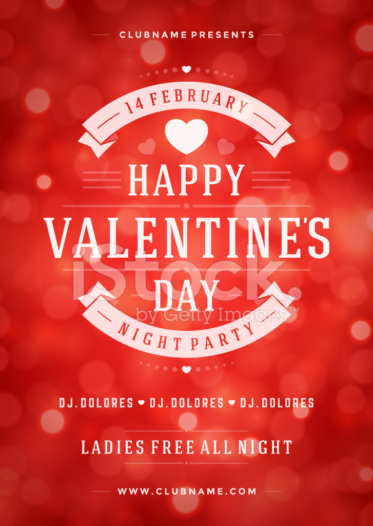 happy valentines day party poster design template stock vector, Ideas