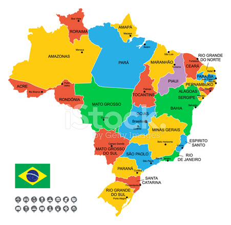 Detailed Vector Map of Brazil Stock Vector - FreeImages.com