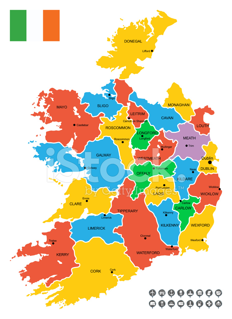 Detailed Map Of Ireland Vector.Detailed Vector Map Of Ireland Stock Vector Freeimages Com