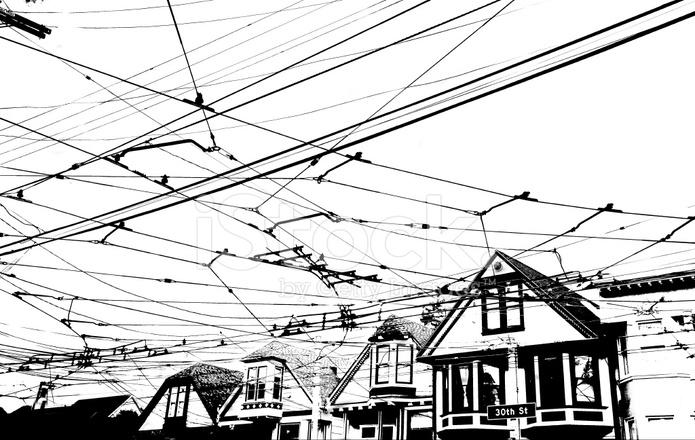 electric streetcars stock photos
