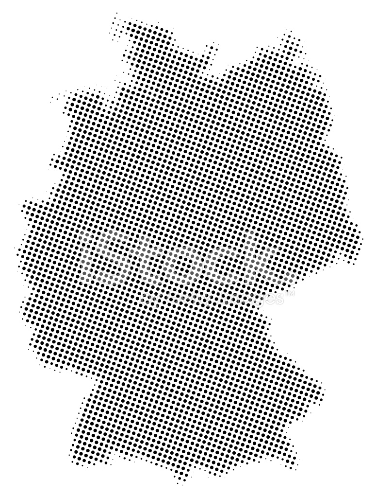 Dotted Vector Map of Germany Stock Vector - FreeImages.com