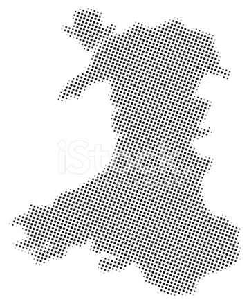 Dotted Vector Map of Wales Stock Vector - FreeImages.com