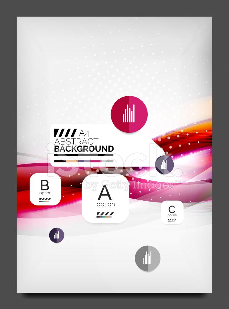modelo de design do flyer layout de web negócios stock vector
