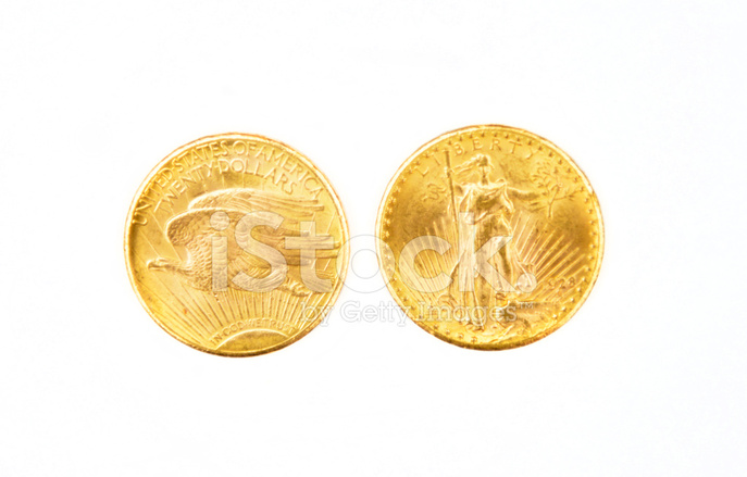 Amerikanische 20 Dollar Gold Eagle Stockfotos Freeimagescom