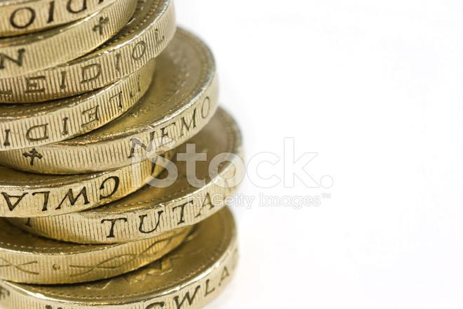 Ein Pfund Münzen Stockfotos Freeimagescom