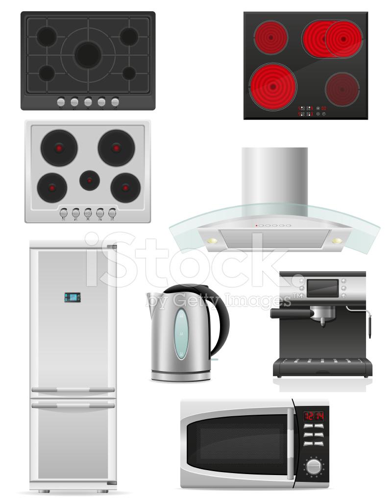 Set of kitchen appliances vector illustration stock vector for Kitchen set vector
