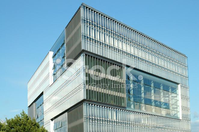 Modern High Tech Cube Building
