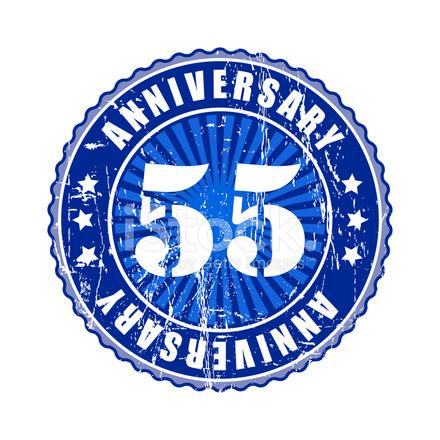 55 Jaar Verjaardag Stock Vector Freeimages Com