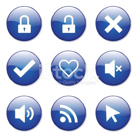 Seo 互联网标志蓝色矢量按钮图标设计设置