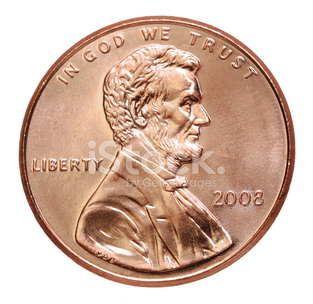 Lincoln Penny 2008 On White Background Stock Photos Freeimages Com