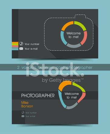 Carte De Visite Photographe Dans Un Style Plat