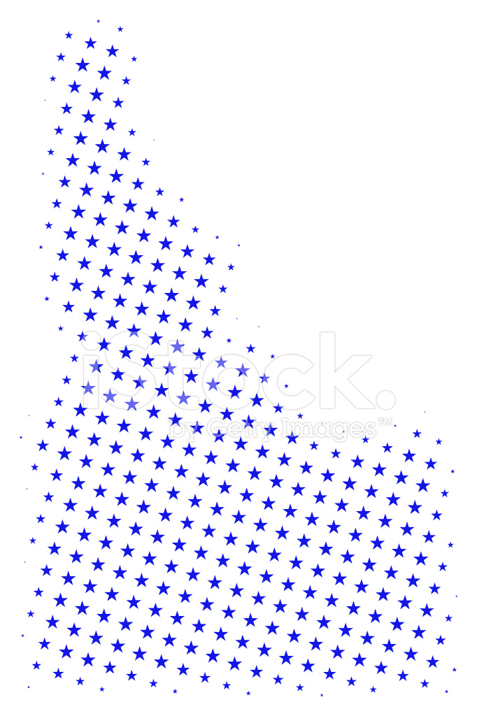 Star Map Of Idaho Stock Vector Freeimages Com