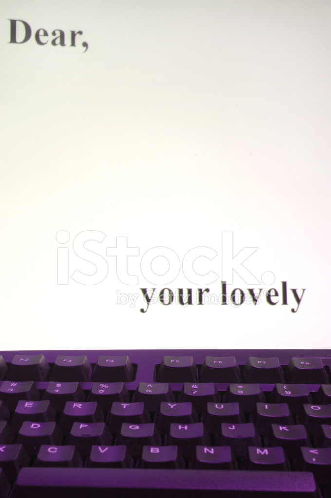 Letter on computer stock photos freeimages letter on computer publicscrutiny Images