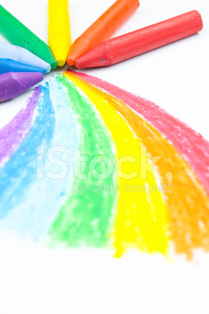 rainbow crayon drawing stock photos freeimages com