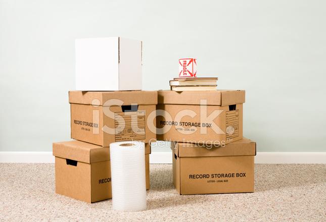 Rangements De Bureau Mobiles Boites En Carton Avec Du Papier