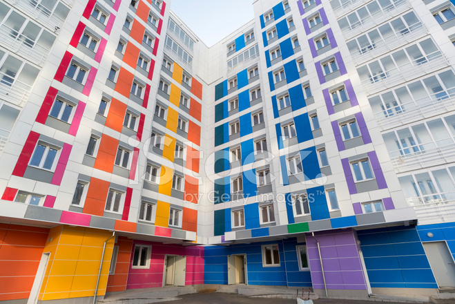 Belle Maison Moderne Aux Façades Colorées Photos - FreeImages.com