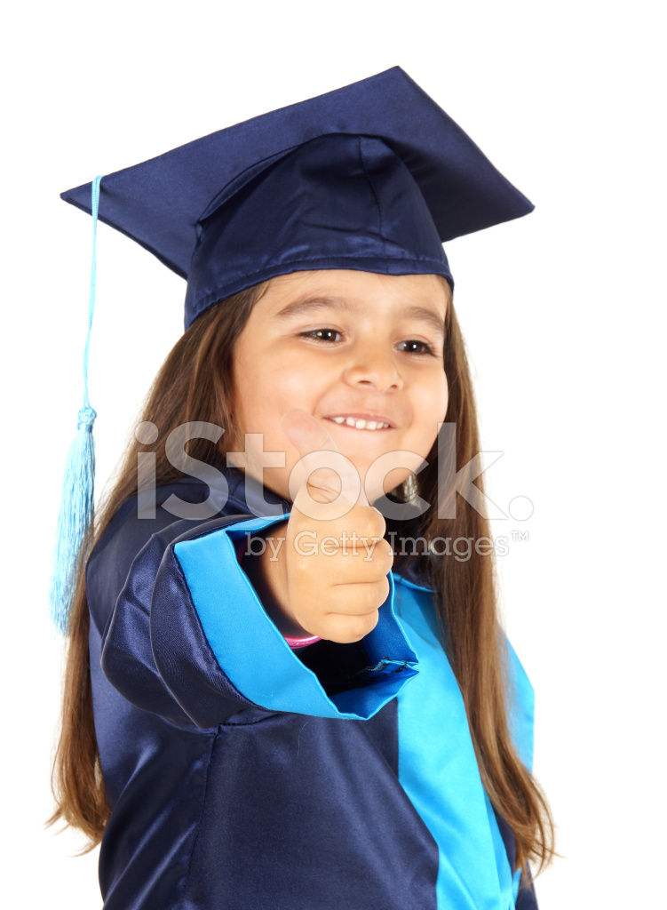 Preschooler Wearing Graduation Gown Stock Photos - FreeImages.com