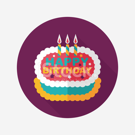 Birthday Cake Icon In Nine Colors Stock Vector Freeimages Com