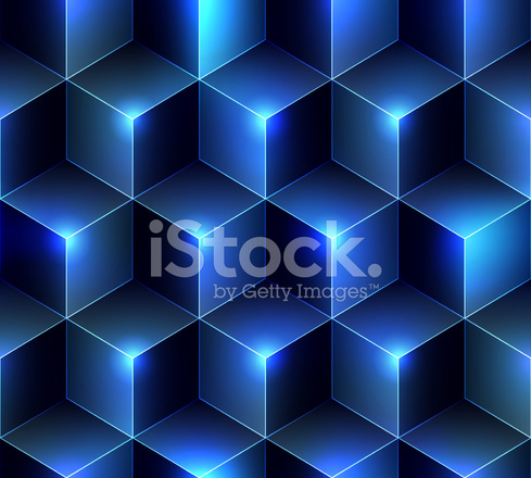 Plano DE Fundo Azul Marinho Cubos Stock Vector