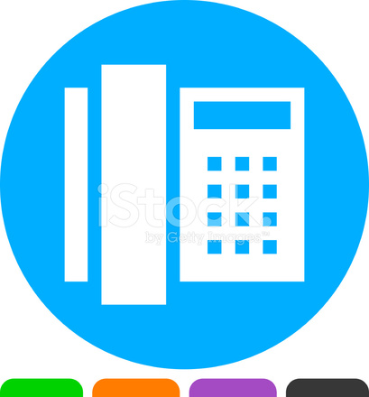 Office Phone Icon Stock Vector - FreeImages com
