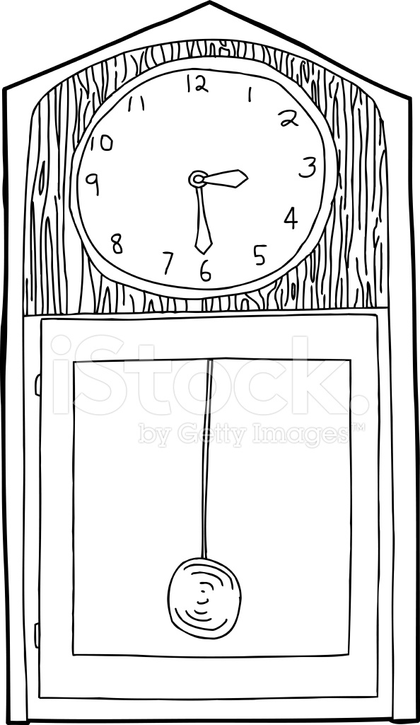 Grandfather Clock Outline Stock Vector - FreeImages.com