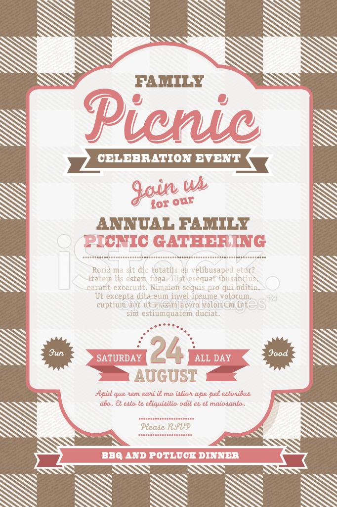 Picnic invitation design template stock vector freeimages picnic invitation design template stopboris Gallery