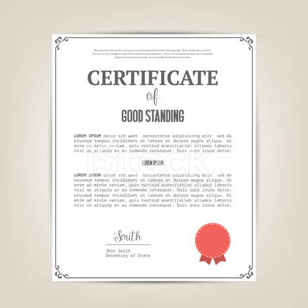 Sample of certificate of good standing for nurses choice image certificate of good standing template stock vector freeimages certificate of good standing template yadclub choice image yelopaper Images